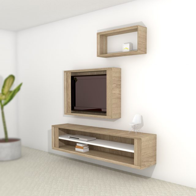 Impression cabinet Hide in use, multiple compositions possible