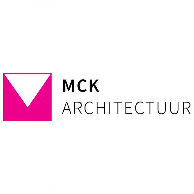 MCK logo design including name magenta